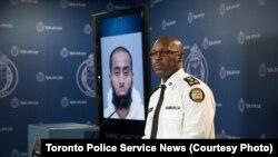 Le chef de la police de la métropole canadienne de Toronto, Mark Saunders, s'adresse à la presse, mardi 15 mars 2016. (Crédit photo: TPSNews.ca)