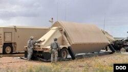 Radar của hệ thống phòng thủ tên lửa THAAD.