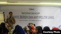Pelatihan kampanye tanpa politik uang bagi Caleg perempuan DIY. (foto: IDEA Yogya)