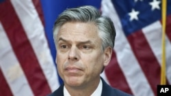 Former US Ambassador to China Jon Huntsman (January 16, 2012 file photo).