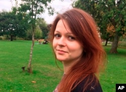 FILE - Yulia Skripal, daughter of former Russian spy Sergei Skripal, is seen in a photo from her Facebook account.