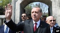 Le président turc, Recep Tayyip Erdogan à Istanbul, le 17 avril 2017
