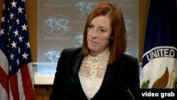 Juru bicara Deplu Amerika Jen Psaki memberikan keterangan mengenai pembicaraan normalisasi AS-Kuba (foto: dok).