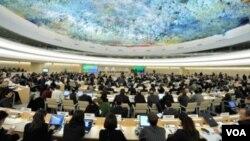 聯合國人權理事會會場資料照