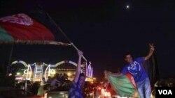 شور و شعف هواخواهان تیم ملی کریکت در کابل