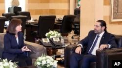 سفیر آمریکا و نخست وزیر لبنان.