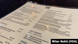 Jelovnik restorana Momo