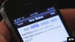 """Obama xalq bilan """"Twitter"""" orqali aloqada"""