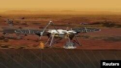 Концепт марсохода новой миссии НАСА, «Инсайт» (InSight)