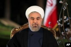 FILE - Iranian President Hassan Rouhani.