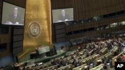 올해 6월 뉴욕 유엔 본부에서 열린 유엔 총회. (자료사진)