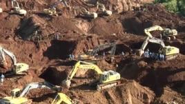 Dhjetëra të zhdukur nga rrëshqitje dheu në Birmani