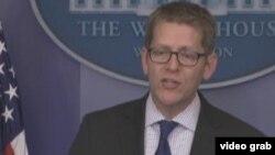 白宫发言人卡尼 (美国之音视频截图)