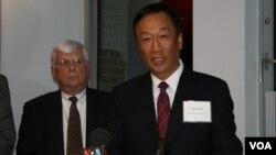 鴻海-富士康集團總裁郭台銘宣佈賓州投資計劃(美國之音 鍾辰芳)
