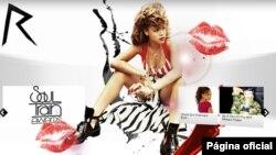 Imagem da página oficial de Rihanna na internet