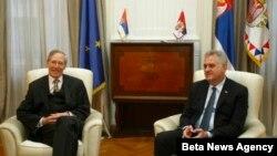 Predsednik Tomislav Nikolić sa ambasadorom SAD u Srbiji Majklom Kirbijem