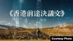 泛民中青代日前聯署發表《香港前途決議文》(香港革新論facebook圖片)