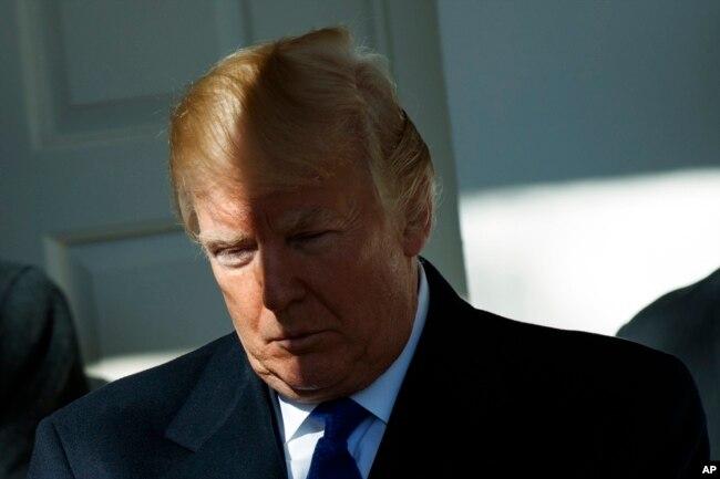 Năm đầu tiên của ông Trump bị phủ bóng đen bởi nhiều tranh cãi bùng lên từ nhiều phát ngôn của chính ông và cuộc điều tra của công tố viên đặc biệt Robert Mueller về sự thông đồng khả dĩ giữa ban vận động tranh cử của ông với Nga trong cuộc bầu cử tổng thống 2016.