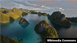 Kawasan perairan Raja Ampat di Papua Barat (foto: Wikipedia).