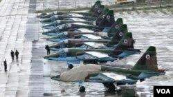 Phi cơ chiến đấu SU-25 của Ukraine.