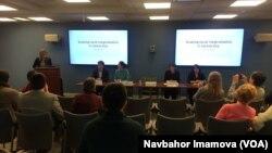 AQSh poytaxtidagi Jorj Vashington Universitetida davra suhbati, 12-yanvar, 2016