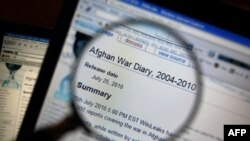 维基解密网站公布的有关阿富汗战争的文件