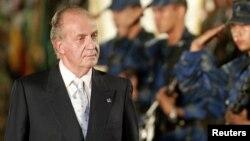 El rey de España, Juan Carlos, en un viaje del 2007 a El Salvador