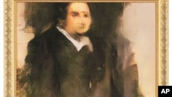 This photo provided by Christie's shows a portrait of Edmond de Belamy, a work of art created by artificial intelligence.