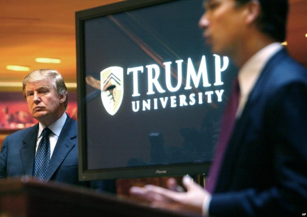 2005年5月23日,電視真人秀明星川普在記者會上宣布成立川普大學