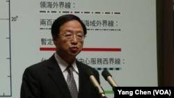 2013年5月台湾行政院长江宜桦宣布第二波对菲律宾制裁(美国之音杨晨拍摄)