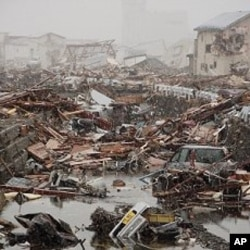 Earthquake and tsunami aftermath in Ofunato, Japan, March 16, 2011