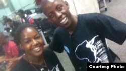 Kelvin Mutize and Sizwile Nyamande 2015 Mandela Washington participants from Zimbabwe, at Arizona State University