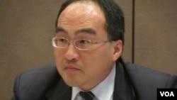 台湾经济部工业局副局长吕正华( 美国之音 张佩芝拍摄 )
