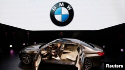 A BMW Vision Future Luxury concept car is displayed during its world premiere ceremony at Auto China 2014 in Beijing April 20, 2014.