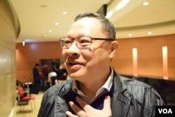 香港法律界選委兼公民聯合行動發言人戴耀廷。(美國之音湯惠芸)