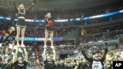 Pep Band Cheerleaders from University of Cincinnati at March Madness game at the Verizon Center in Washington, D.C.