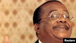 Antoine-Gabriel Kyungu wa Kumwanza, président de l'Union nationale des fédéralistes du Congo (Unafec)