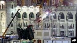 Kran koji je pao na Veliku džamiju u Meki
