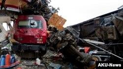 Une collision entre deux trains au Portugal, 22 janvier 2013. (Archives)