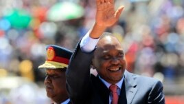 FILE - Kenya's President Uhuru Kenyatta in Nairobi, Oct. 20, 2013.