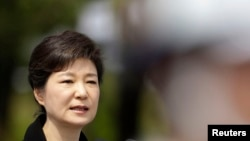 FILE - South Korea's President Park Geun-hye.