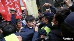 Joshua Wong, tức Hoàng Chi Phong, hôm 26/3/2017.