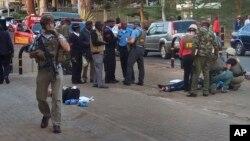 На месте происшествия у американского посольства в Найроби, Кения. 27 октября 2016 г.
