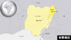 尼日利亚迈杜古里位置图