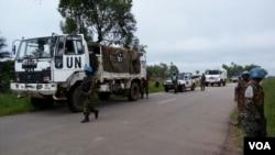 Kikosi cha ulinzi wa amani cha MONUSCO wakiwa katika doria kwenye wilaya ya Beni huko DRC