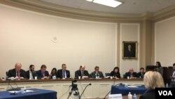 众议院外交委员会亚太小组举行台湾选举后美国对台政策听证会 (美国之音钟辰芳拍摄)