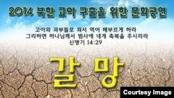 오는 18일 워싱턴지역 탈북자지원단체가 북한에 홀로 남겨진 소년을 구하기 위해 구명 음악회를 연다. 사진은 음악회 '갈망' 포스터.