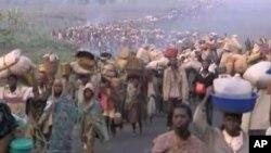 Des Rwandais déplacés durant le génocide de 1994