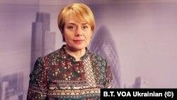 """Лілія Гриневич, міністр освіти України, в студії """"Голосу Америки"""" у Лондоні 21 січня 2019 р."""