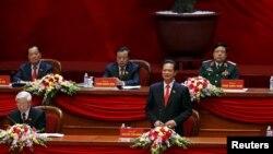 Thủ tướng Nguyễn Tấn Dũng phát biểu trong buổi lễ khai mạc Đại hội Đảng toàn quốc lần thứ 12 tại Hà Nội, ngày 21/1/2016.